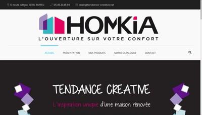 Site internet de Tendance Creative