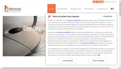 Site internet de Ferchaud Ingenierie