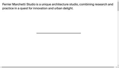 Site internet de Ferrier Marchetti Studio