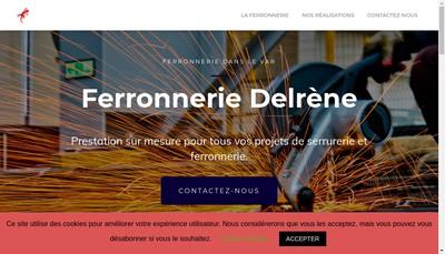 Site internet de Ferronnerie Delrene