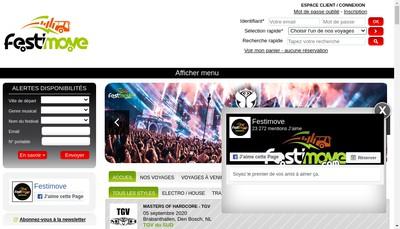 Site internet de Festimove