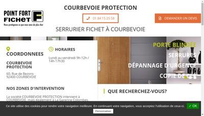 Site internet de Courbevoie Protection