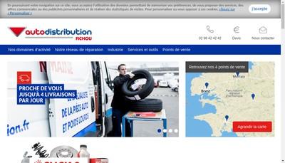 Site internet de Autodistribution Fichou