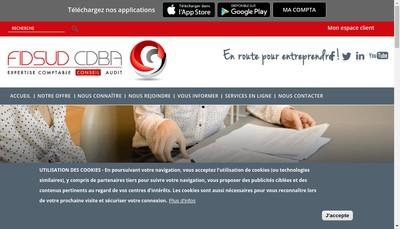 Site internet de Fidsud Cdba Lunel