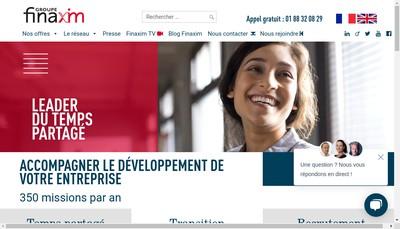 Site internet de Groupe Finaxim