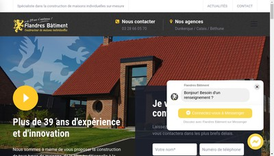 Site internet de Flandres Batiment