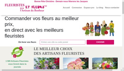 Site internet de Fleuristes et Fleurs