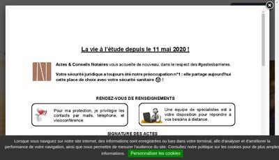 Site internet de Actes & Conseils Notaires