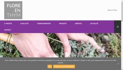 Site internet de Flore en Thym