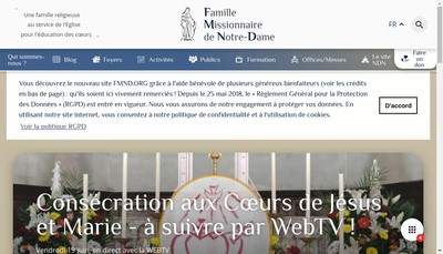 Site internet de Fmnd
