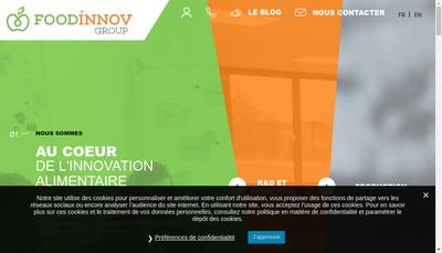 Site internet de Foodinnov Development