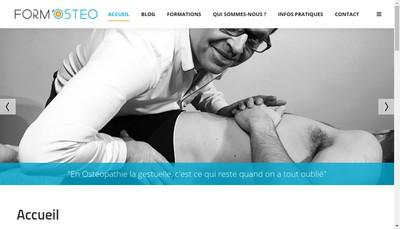 Site internet de Form - Osteo