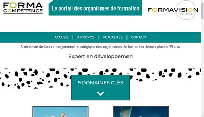 Site internet de Forma Competence