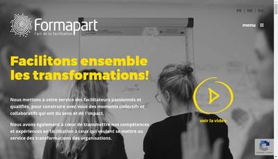 Site internet de Formapart