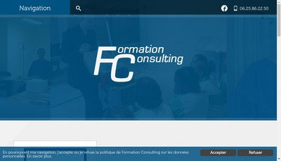 Site internet de Formation Consulting