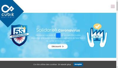 Site internet de Cubik Partners