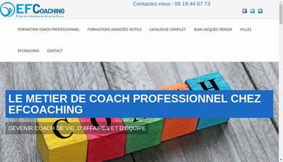 Site internet de Efcoaching