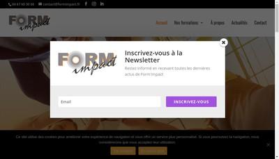 Site internet de Form'Impact