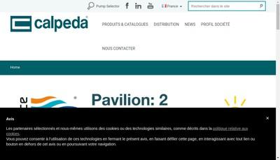 Site internet de Calpeda Pompes