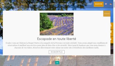 Site internet de Chateau la Roque