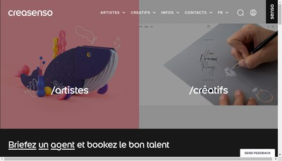 Site internet de Creasenso