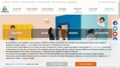 Site internet de Foncia Ligurie