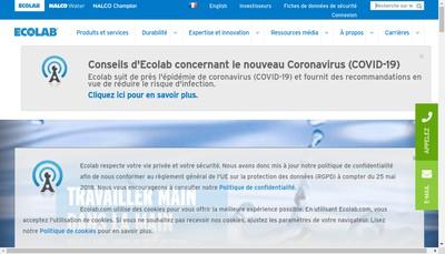 Site internet de Ecolab SNC