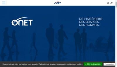 Site internet de Onet Securite