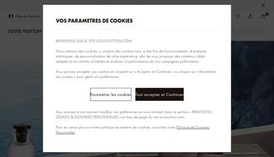 Site internet de Louis Vuitton Malletier