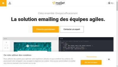 Site internet de Mailjet
