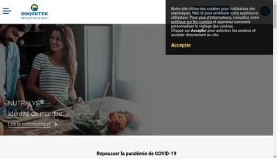 Site internet de Roquette Freres