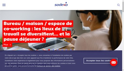 Site internet de Sodexo Education