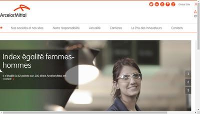 Site internet de Arcelormittal Mediterranee