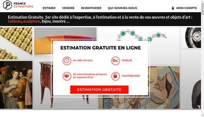 Site internet de France Estimations - Maison de Ventes Good