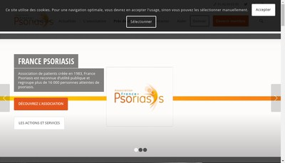 Site internet de France Psoriasis