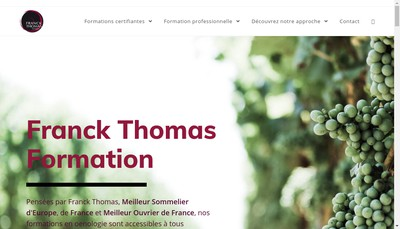 Site internet de Franck Thomas Formation