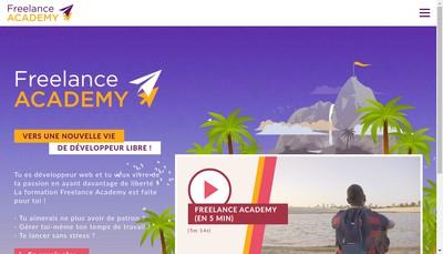 Site internet de Freelance Academy
