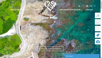 Site internet de Office de Tourisme de Frejus
