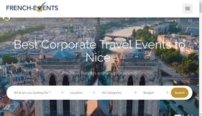 Site internet de French Events Riviera