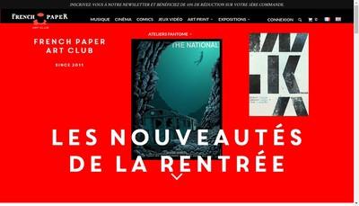 Site internet de French Paper Art Club