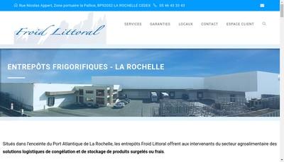 Site internet de Froid Littoral