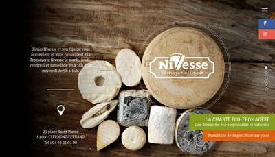 Site internet de Fromagerie Nivesse