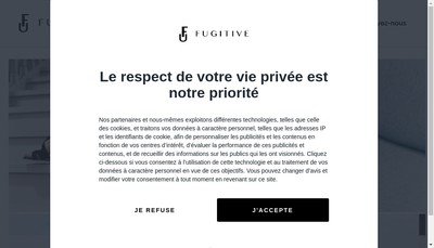 Site internet de Fugitive