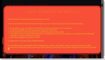 Site internet de Funky Factory