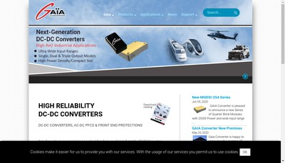Site internet de Gaia Converter