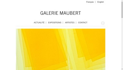 Site internet de Galerie Maubert
