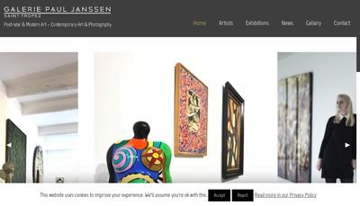 Site internet de Galerie Paul Janssen