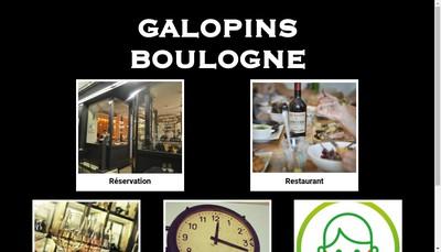 Site internet de Les Galopins Boulogne