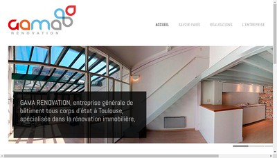 Site internet de SARL Gama Renovation