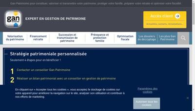 Site internet de Gan Patrimoine